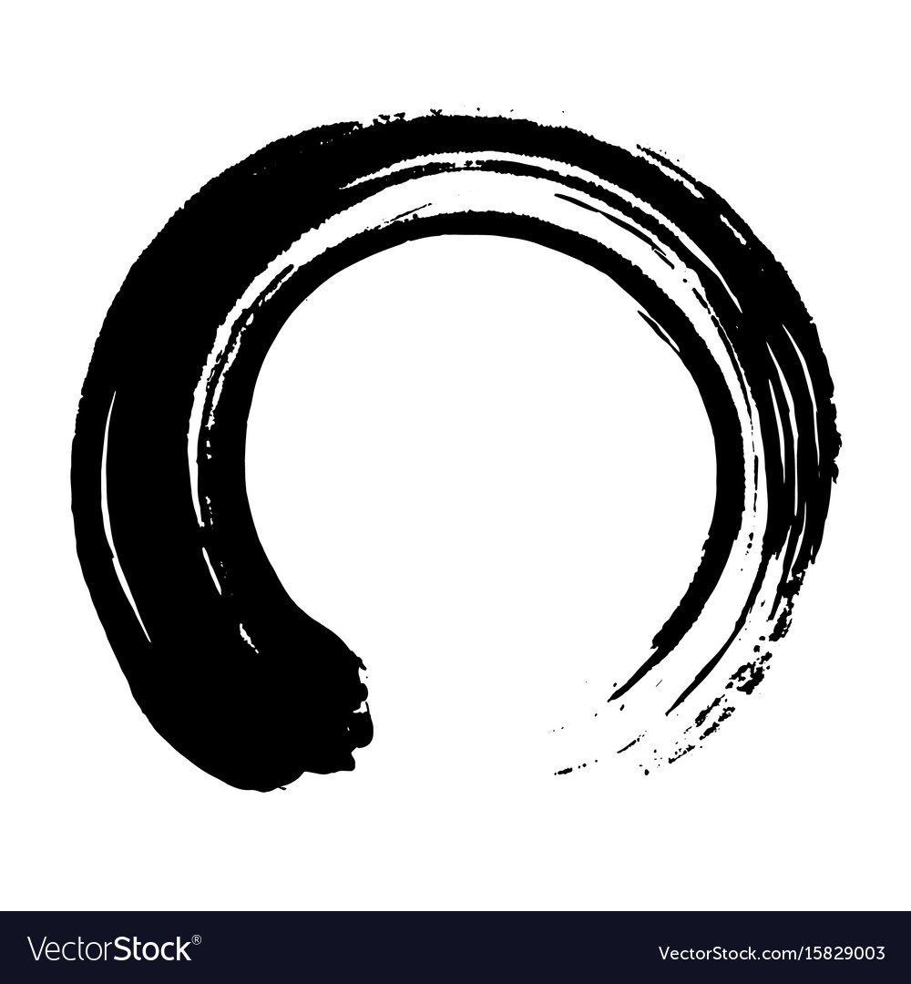 Japanese Enso Zen Black Ink Art Royalty Free Vector Image
