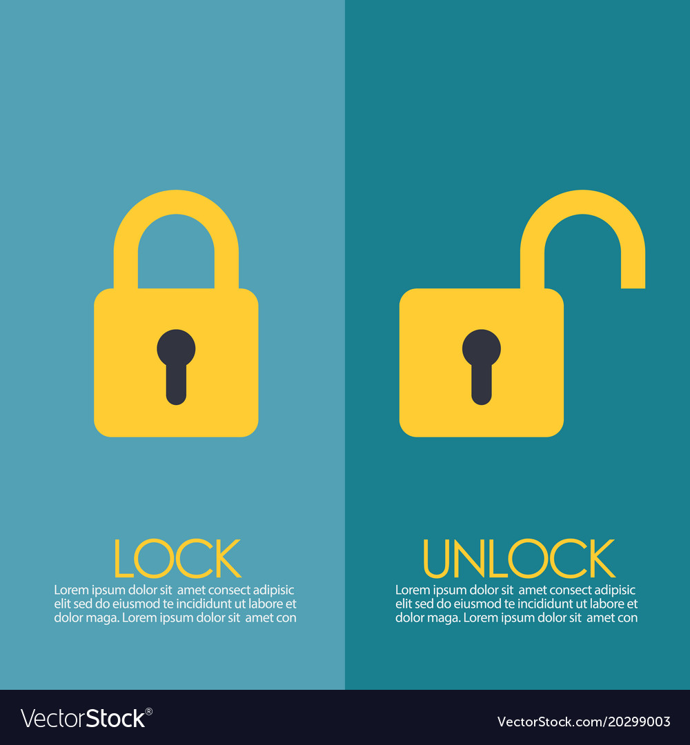 Lock and unlock infographic