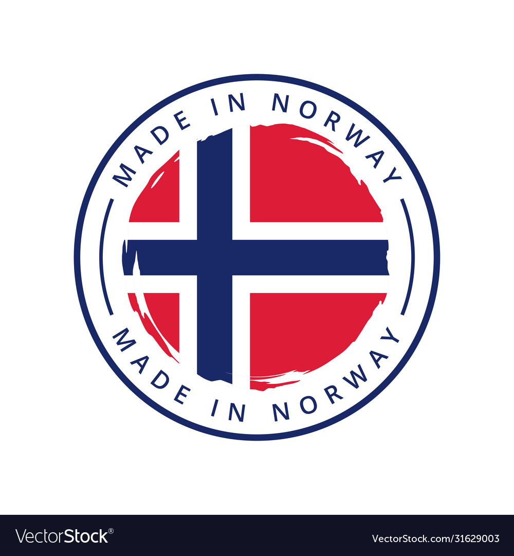 Made in norway round label