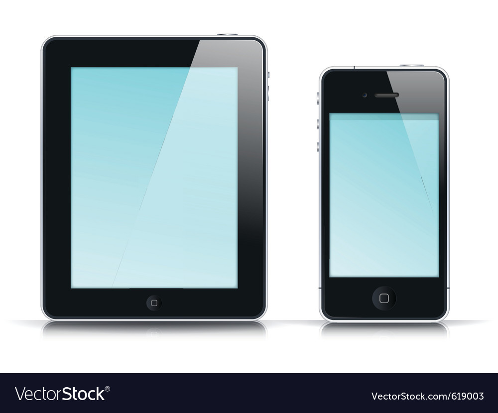 Mobile app template vector image
