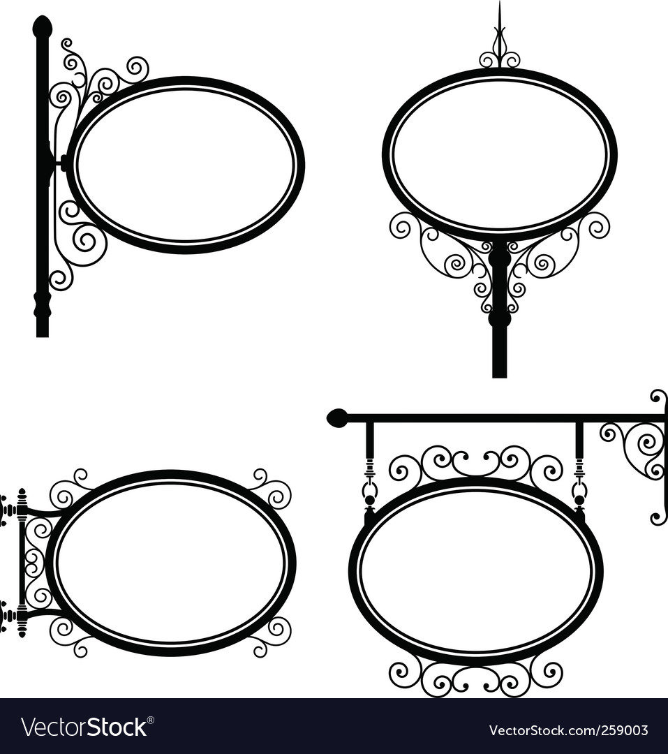 Oval sign vector image