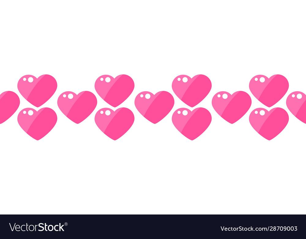 Seamless pattern stripe hearts on a white