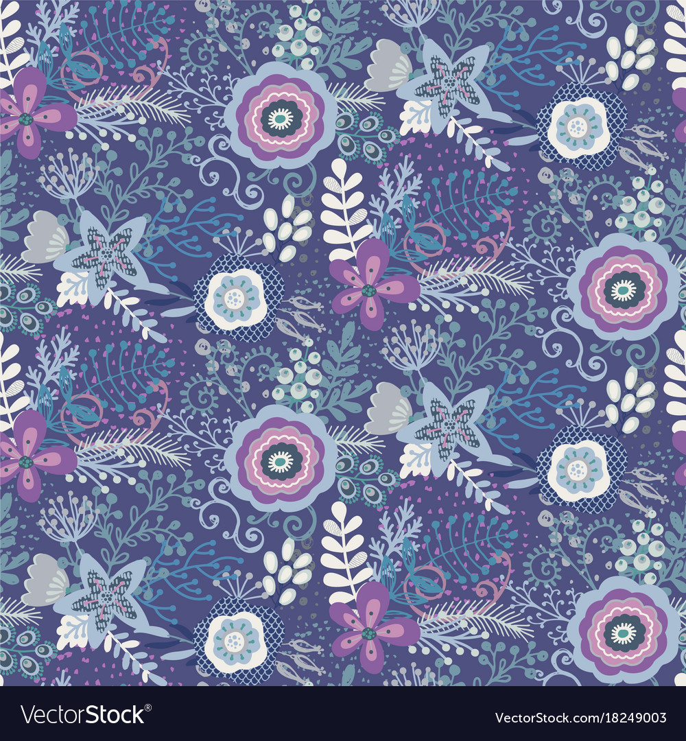 Seamless pattern with beautiful flowers and