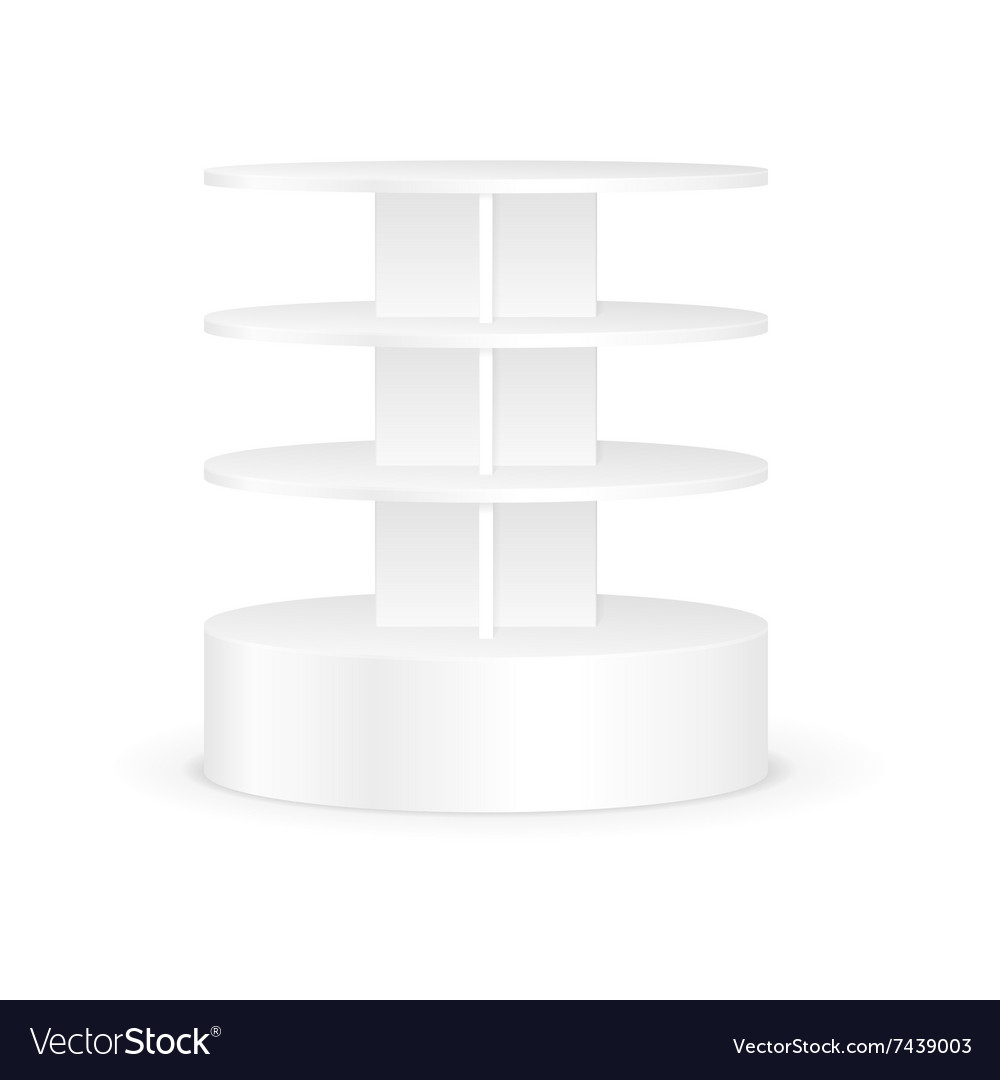 White Round Shelves Rack For Product Display