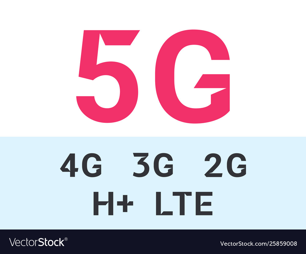 5g and internet mobile network icons