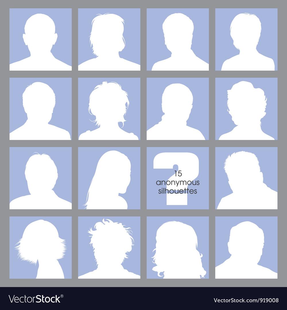 Anonymous Avatars vector image