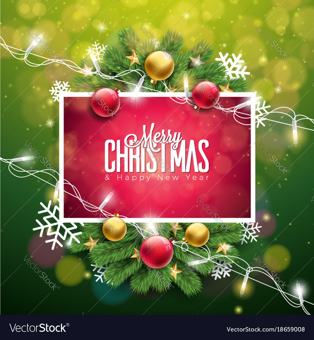 Christmas on green background with