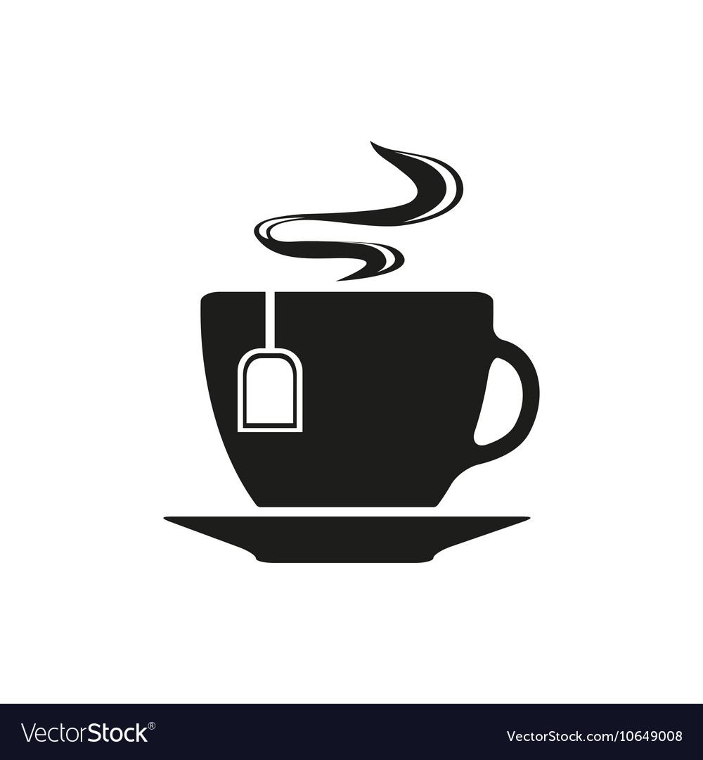 Cup with tea bag symbol icon