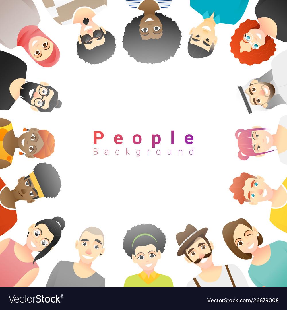 Group happy multi ethnic people
