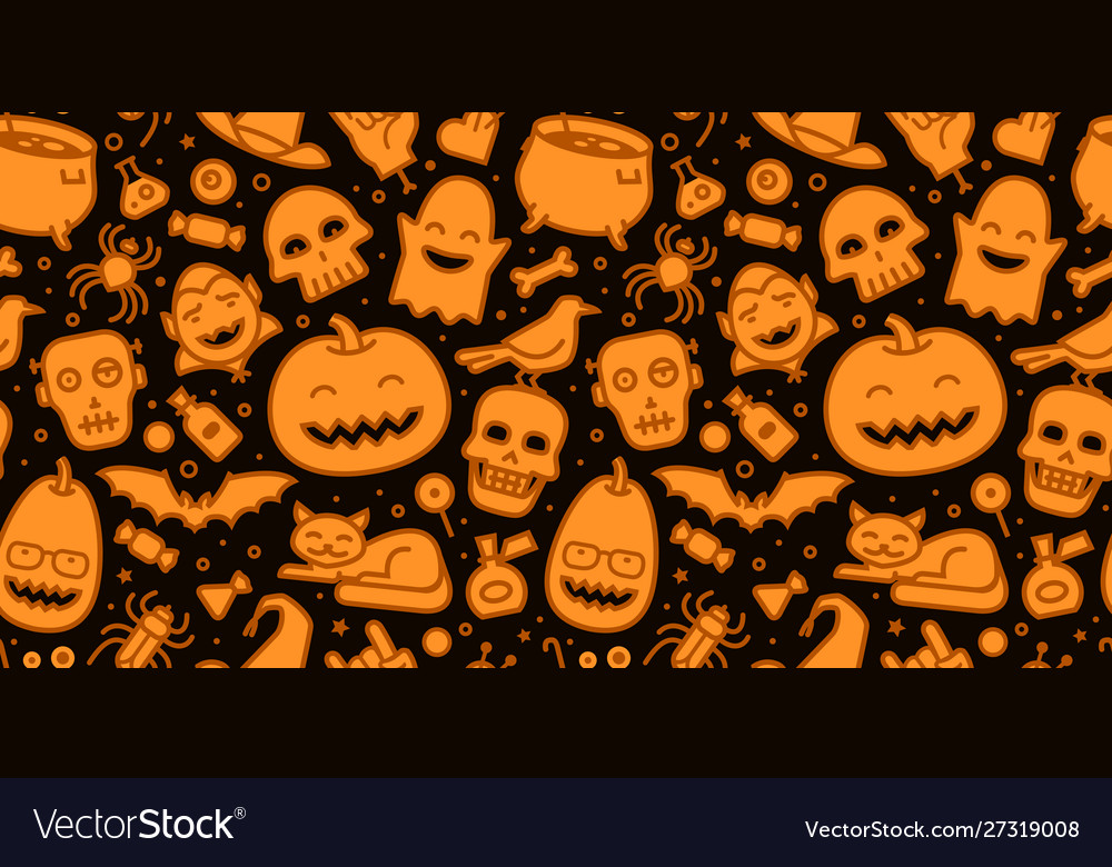 Halloween party seamless background pattern