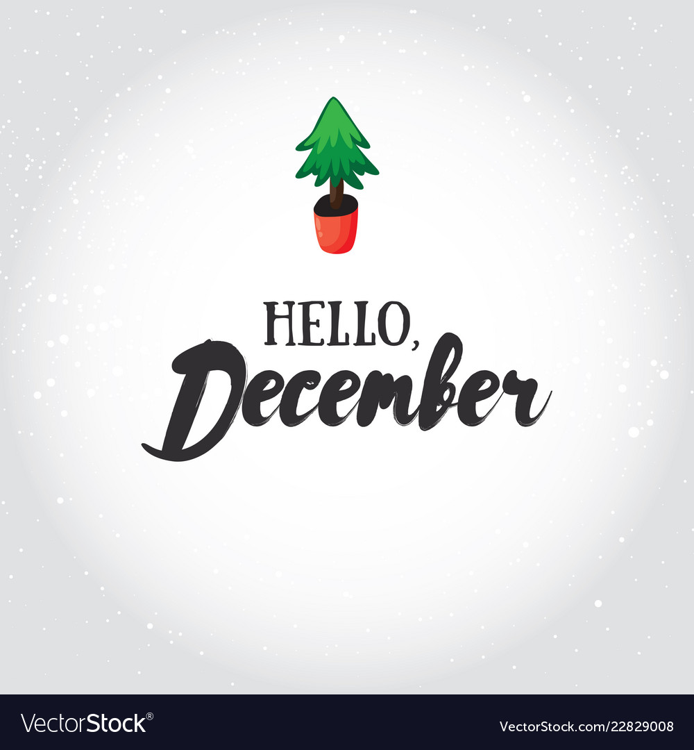 Hello december greeting card