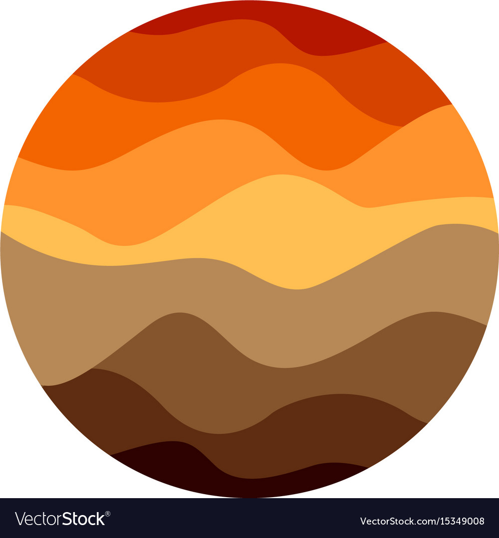 Isolated abstract orange color round shape logo on