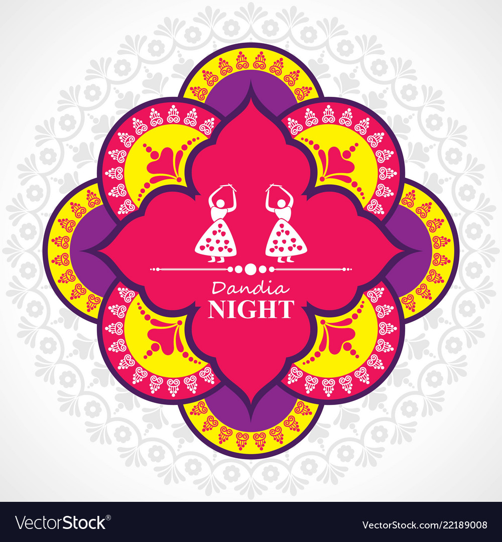 Navratri and garba utsav greeting card royalty free vector navratri and garba utsav greeting card vector image m4hsunfo