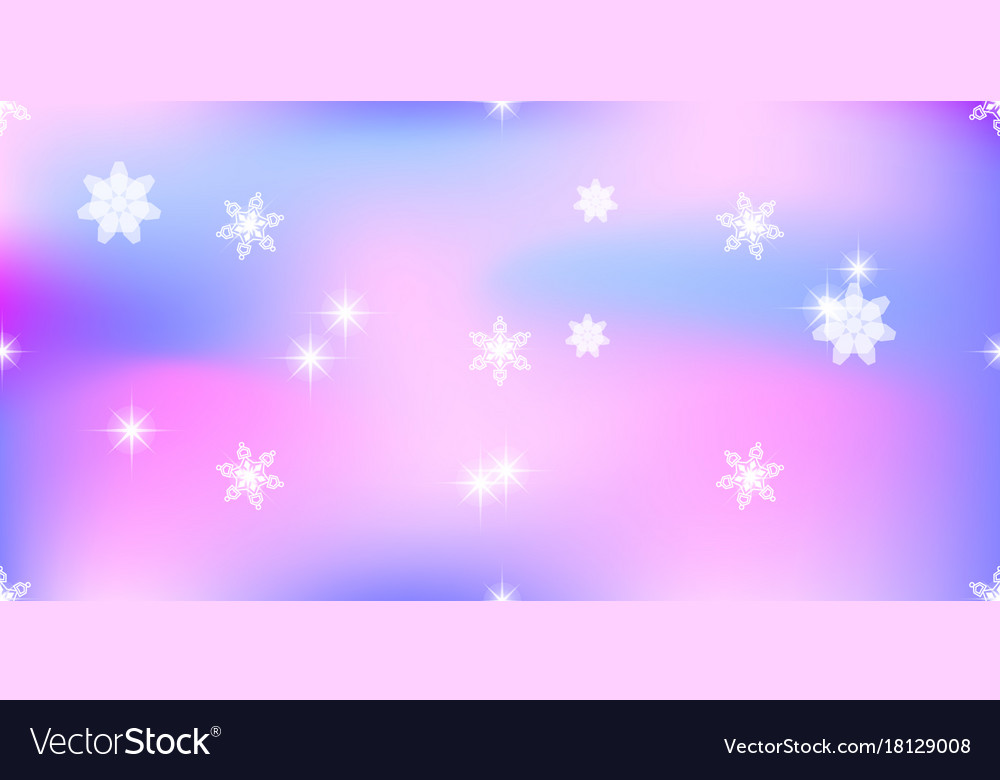 Background With Snowflakes Soft Purple Color Vector Image