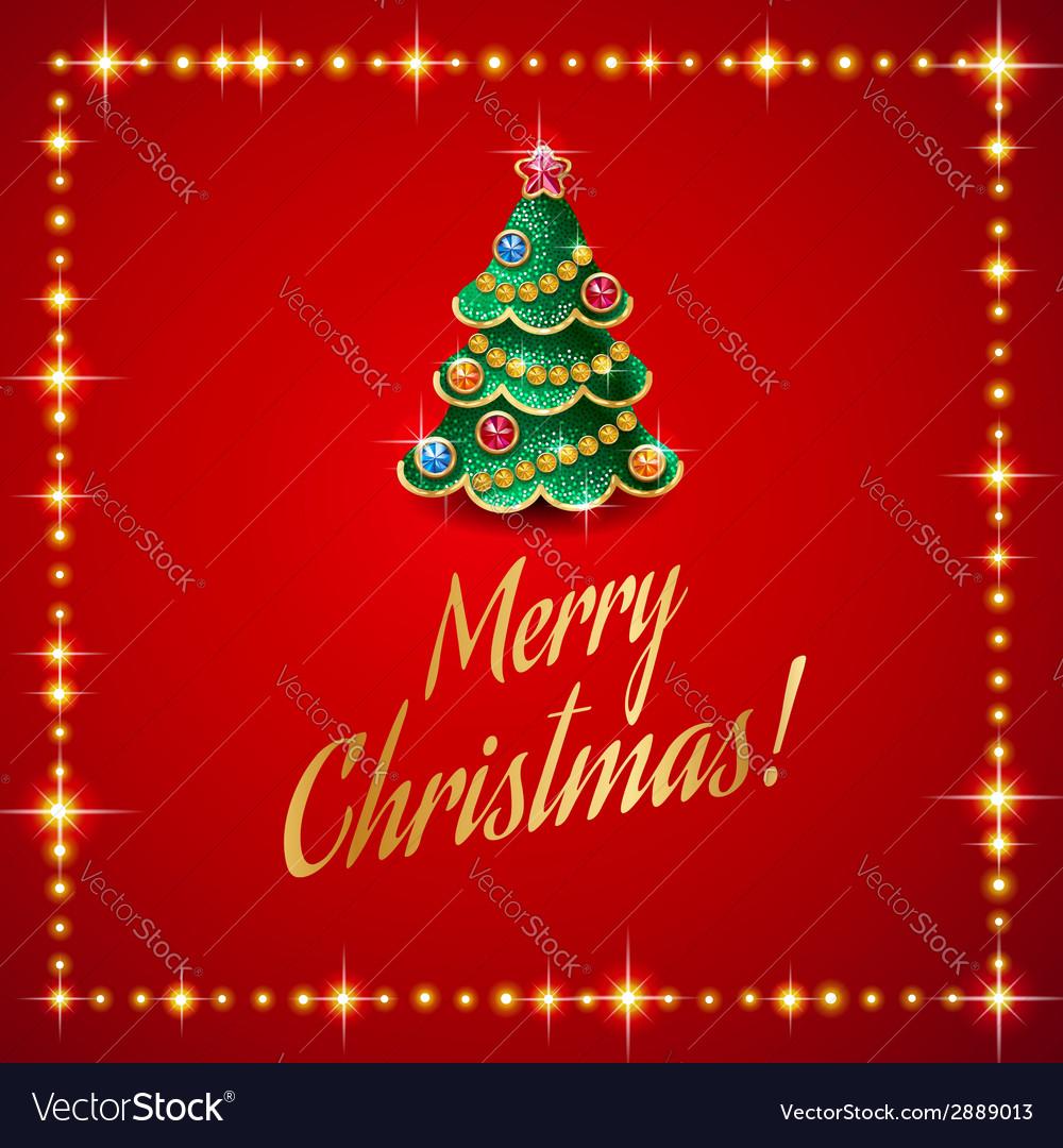 Flash christmas tree vector image
