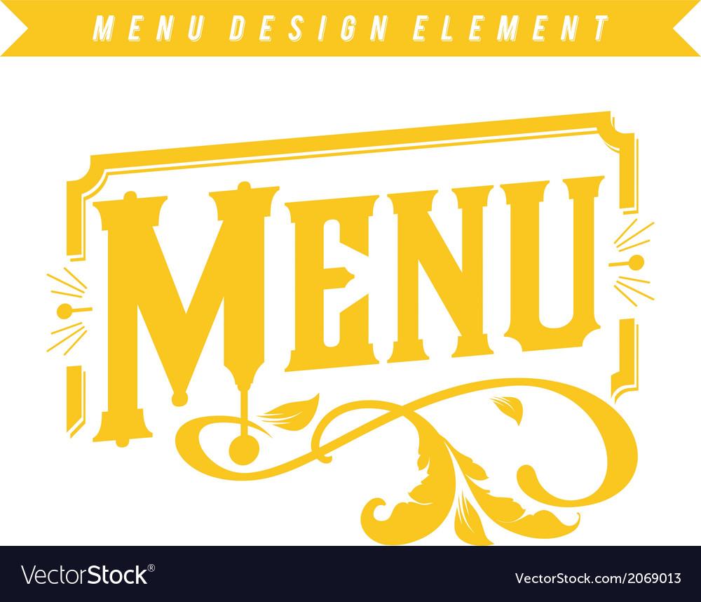 Menu Design Element