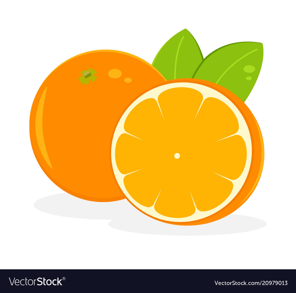 Orange fruit icon isolated fruits and vegetables