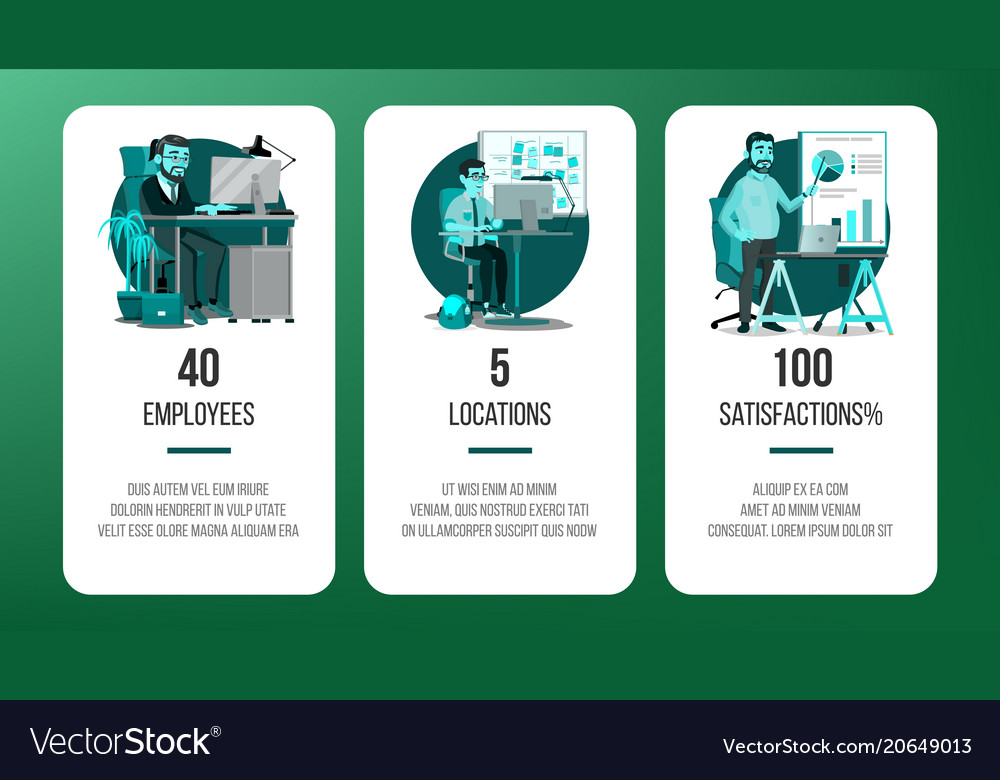 Web page banners design business screen