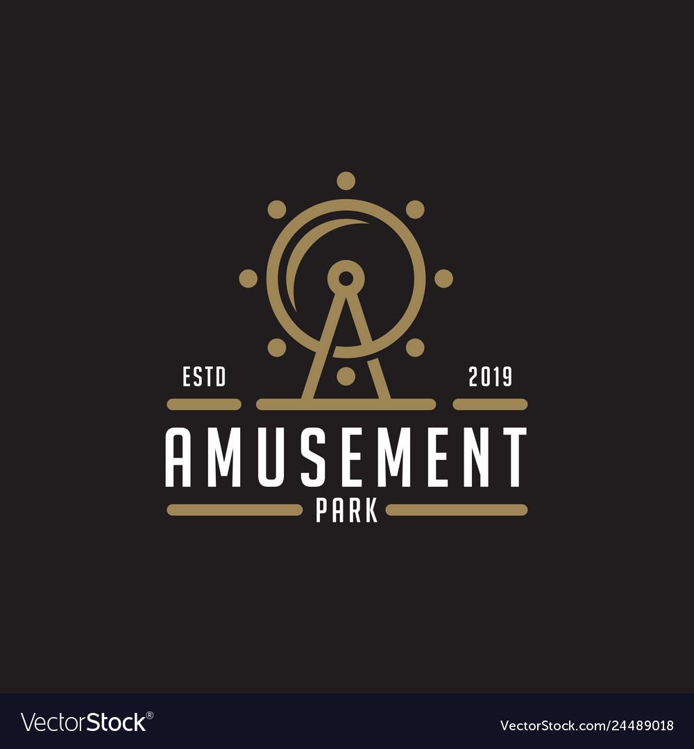 Amusement Park Logo Design Inspiration Royalty Free Vector