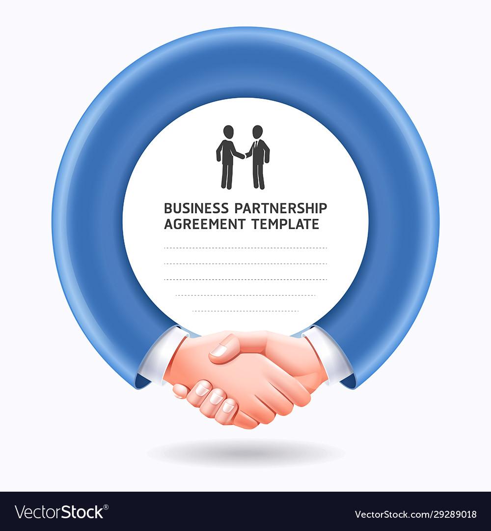 Business people handshake template background