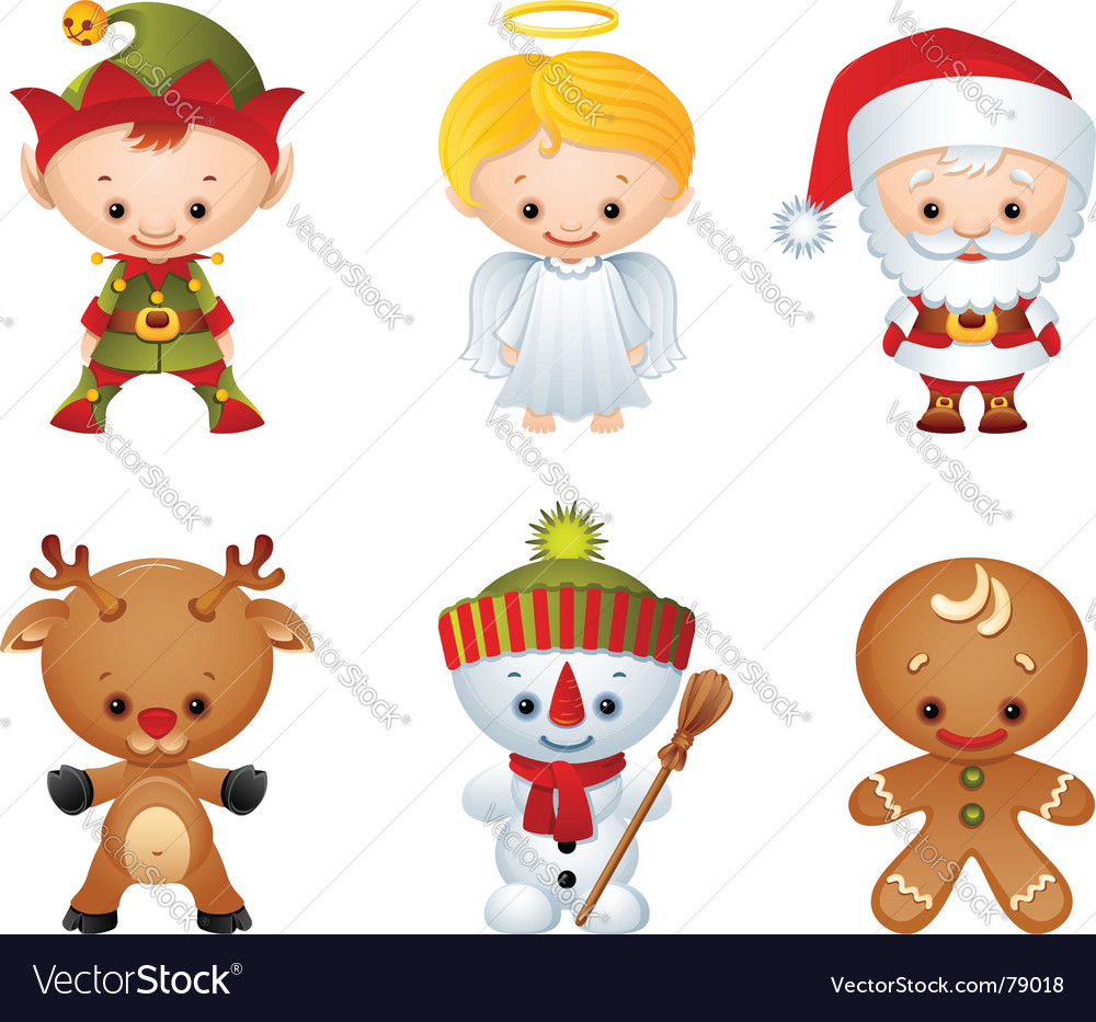 Christmas characters Royalty Free