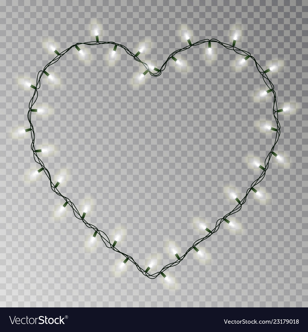 Christmas Heart.Christmas Lights Heart Transparent Light G