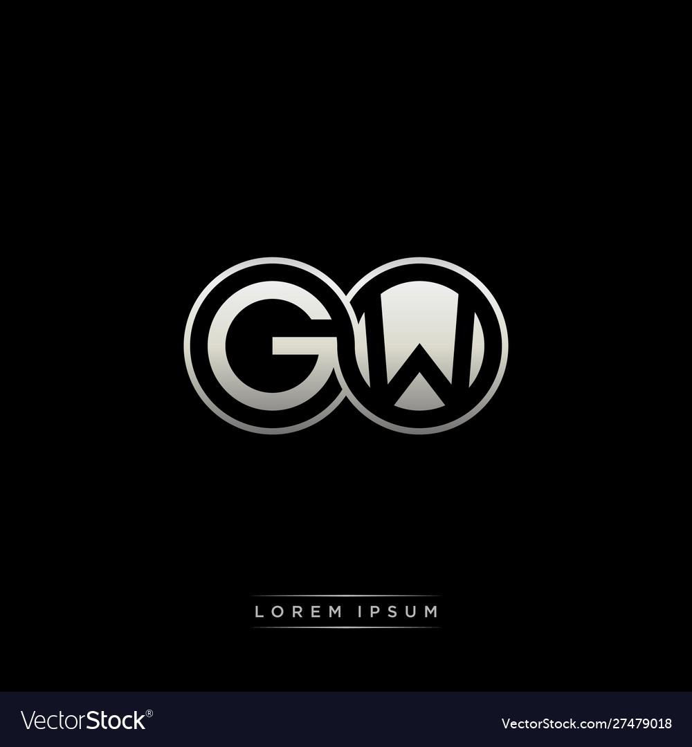 Gw initial letter linked circle capital monogram