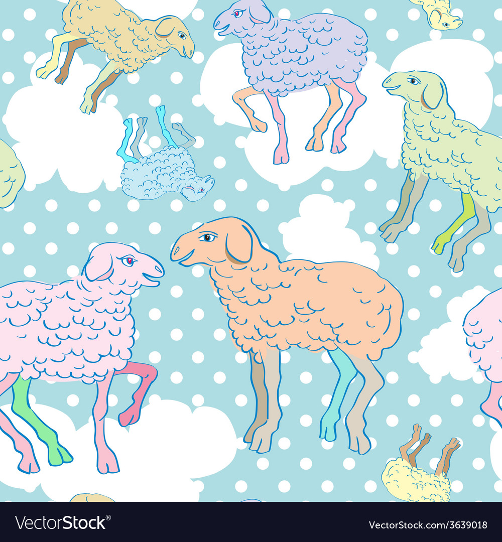 happy new year of sheep vector image
