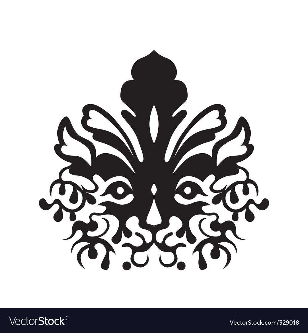 Tattoo of a tigers head vector image