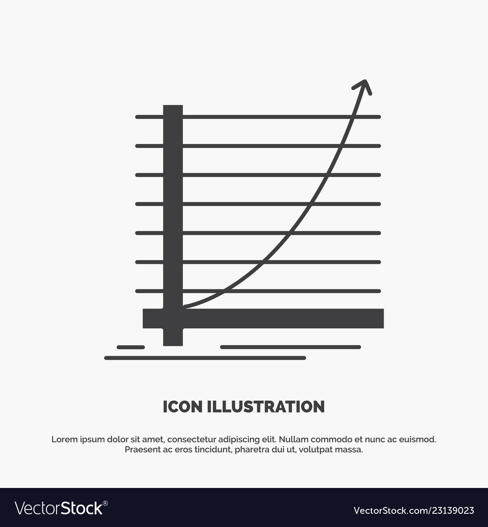 Arrow chart curve experience goal icon glyph gray