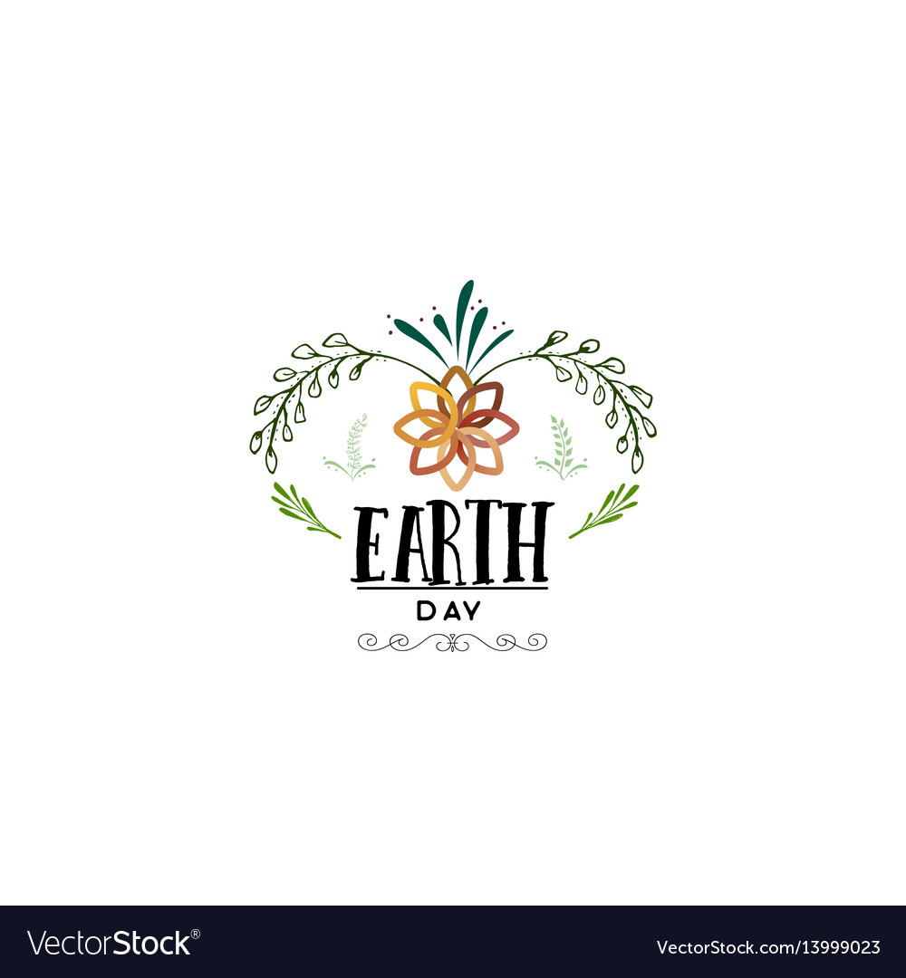 Badge as part of the design - earth day sticker