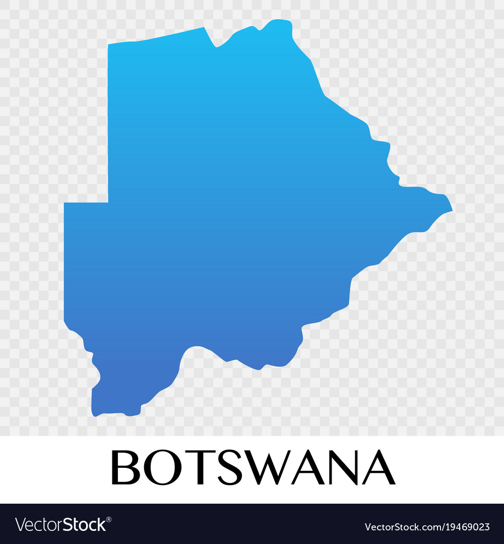 Botswana map in africa continent design