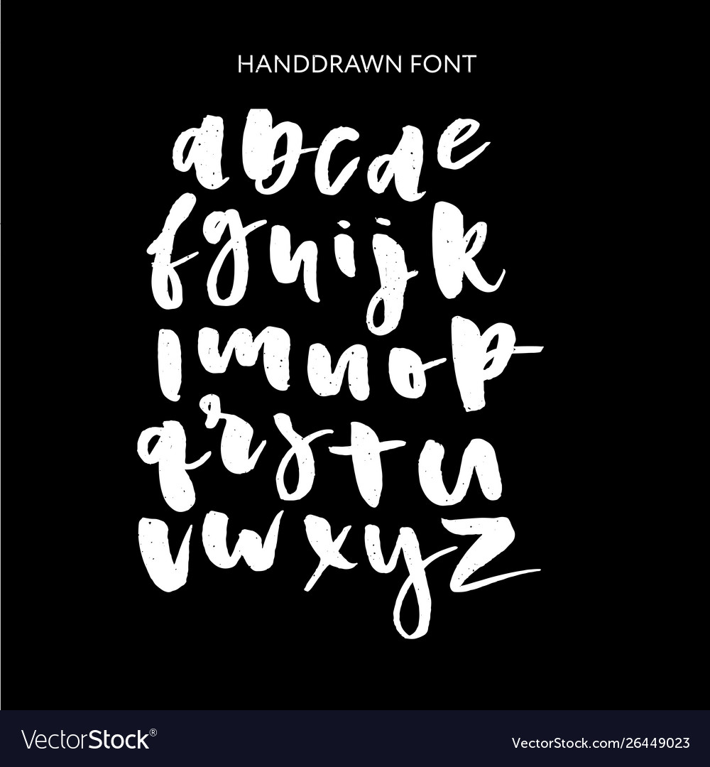 Hand drawn lettering set alphabet custom