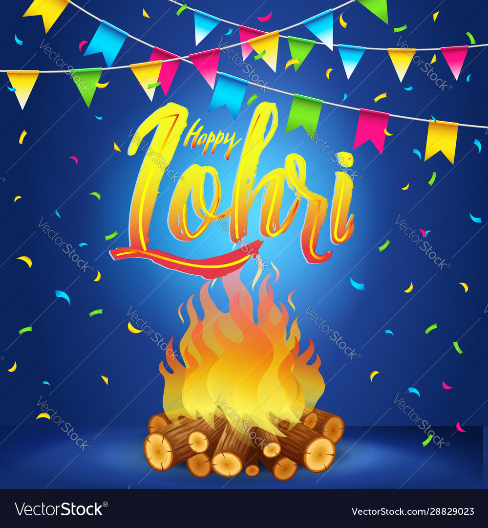 Happy lohri banner greeting card ...