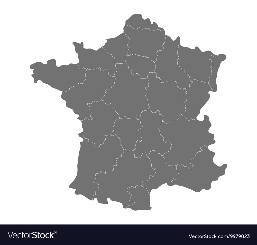 Map Of France With Regions.Map Of France With Regions