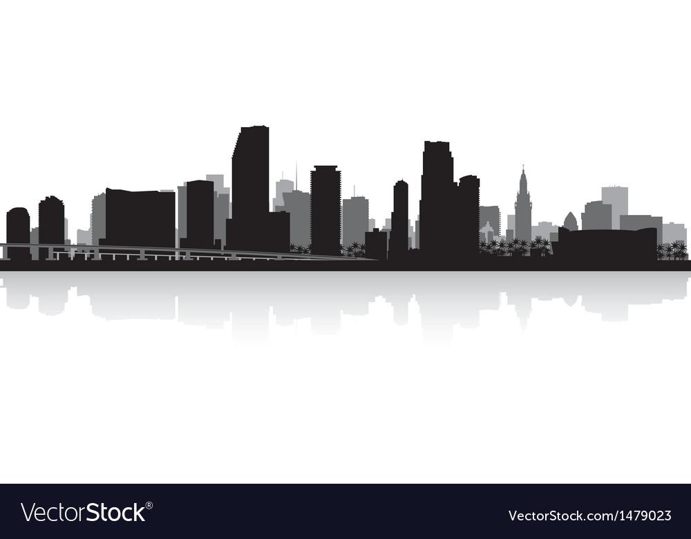 Miami USA city skyline silhouette