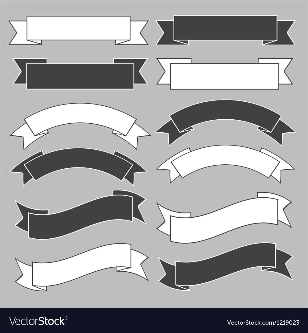 old ribbon banner royalty free vector image vectorstock rh vectorstock com ribbon banner vector download ribbon banner vector psd