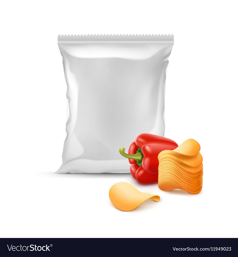 Potato Chips with Paprika and Plastic Foil Bag