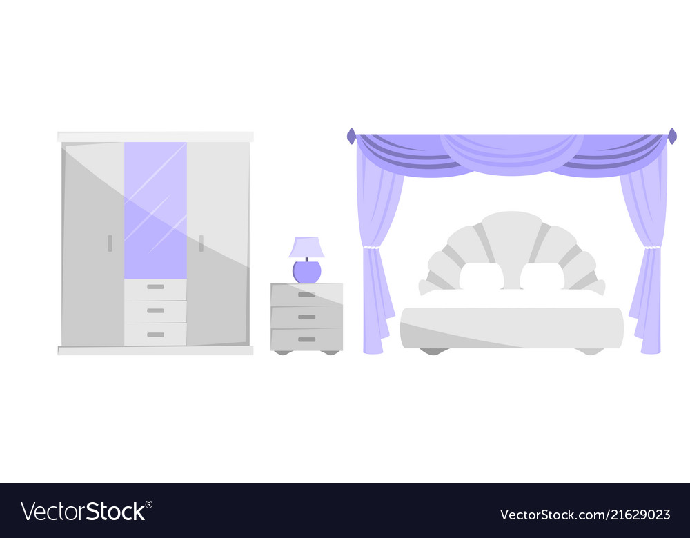 The interior of the bedroom