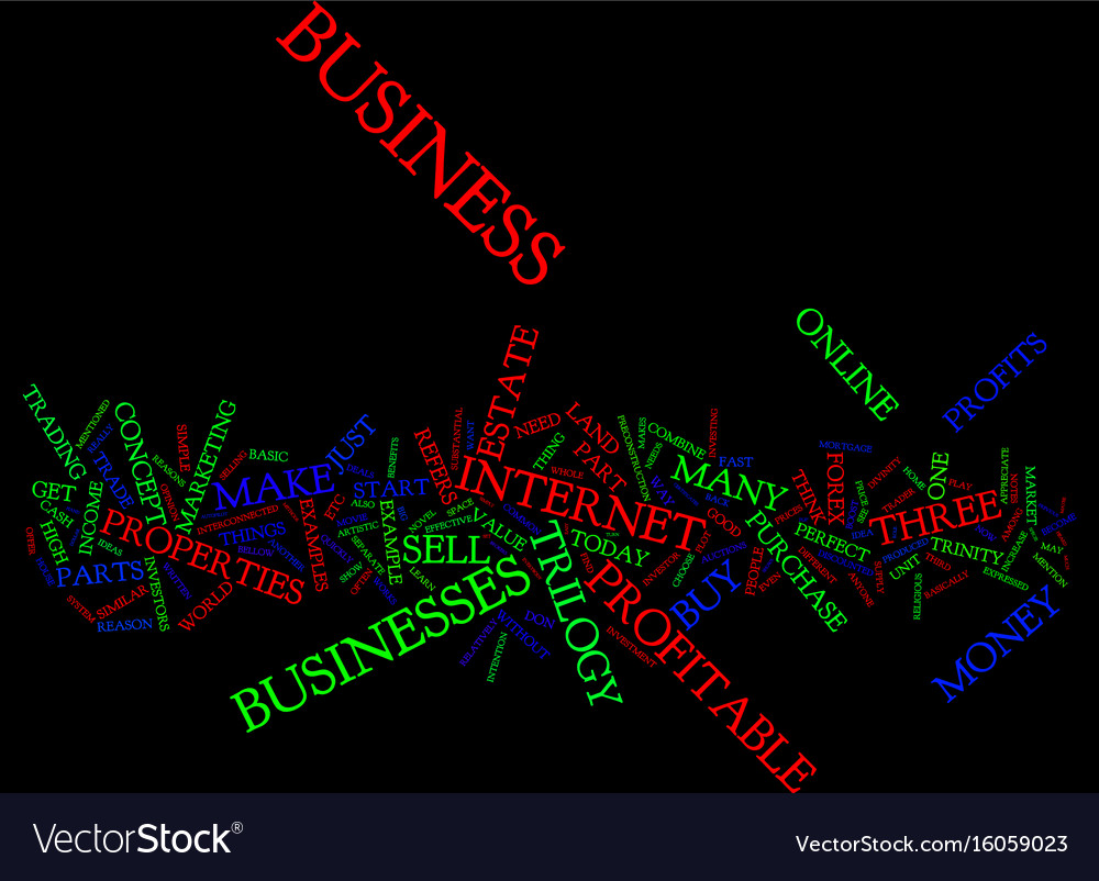 The perfect business trilogy text background word vector image