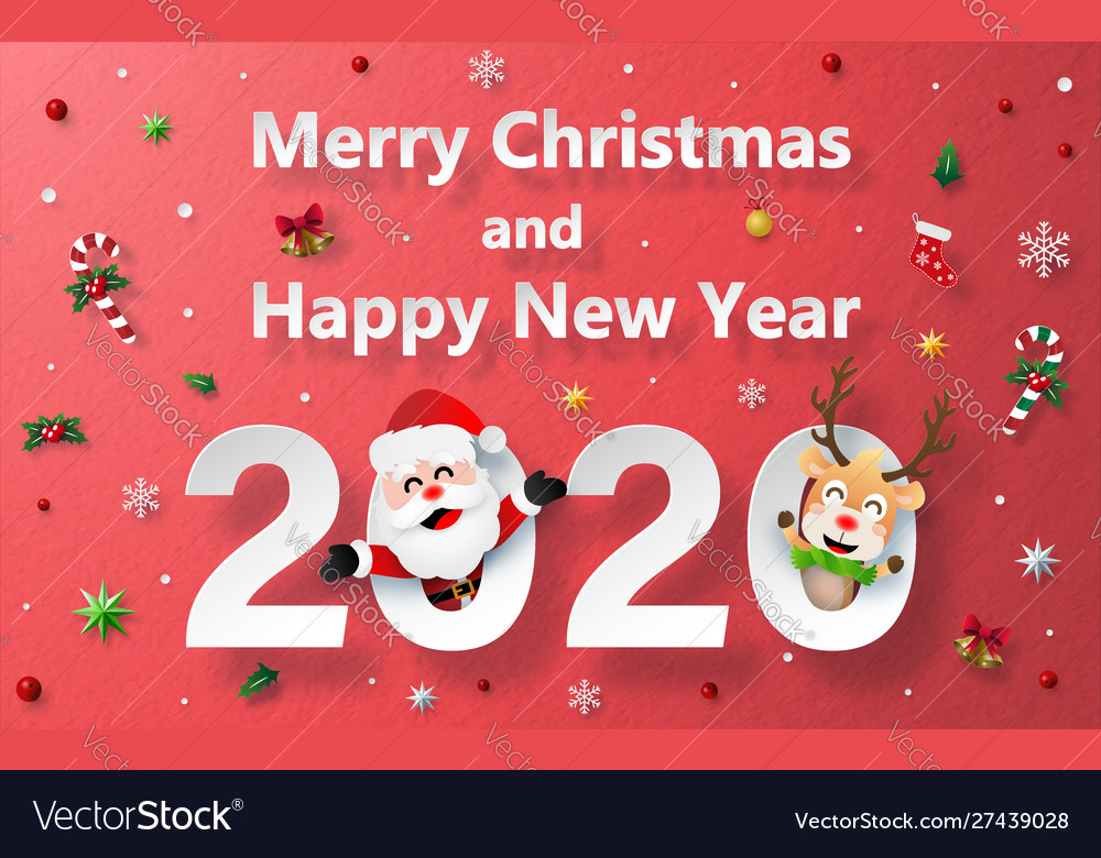 Christmas celebration with santa claus