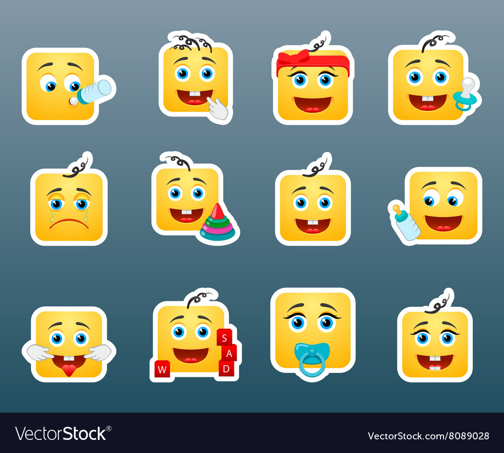 Kids smile stickers