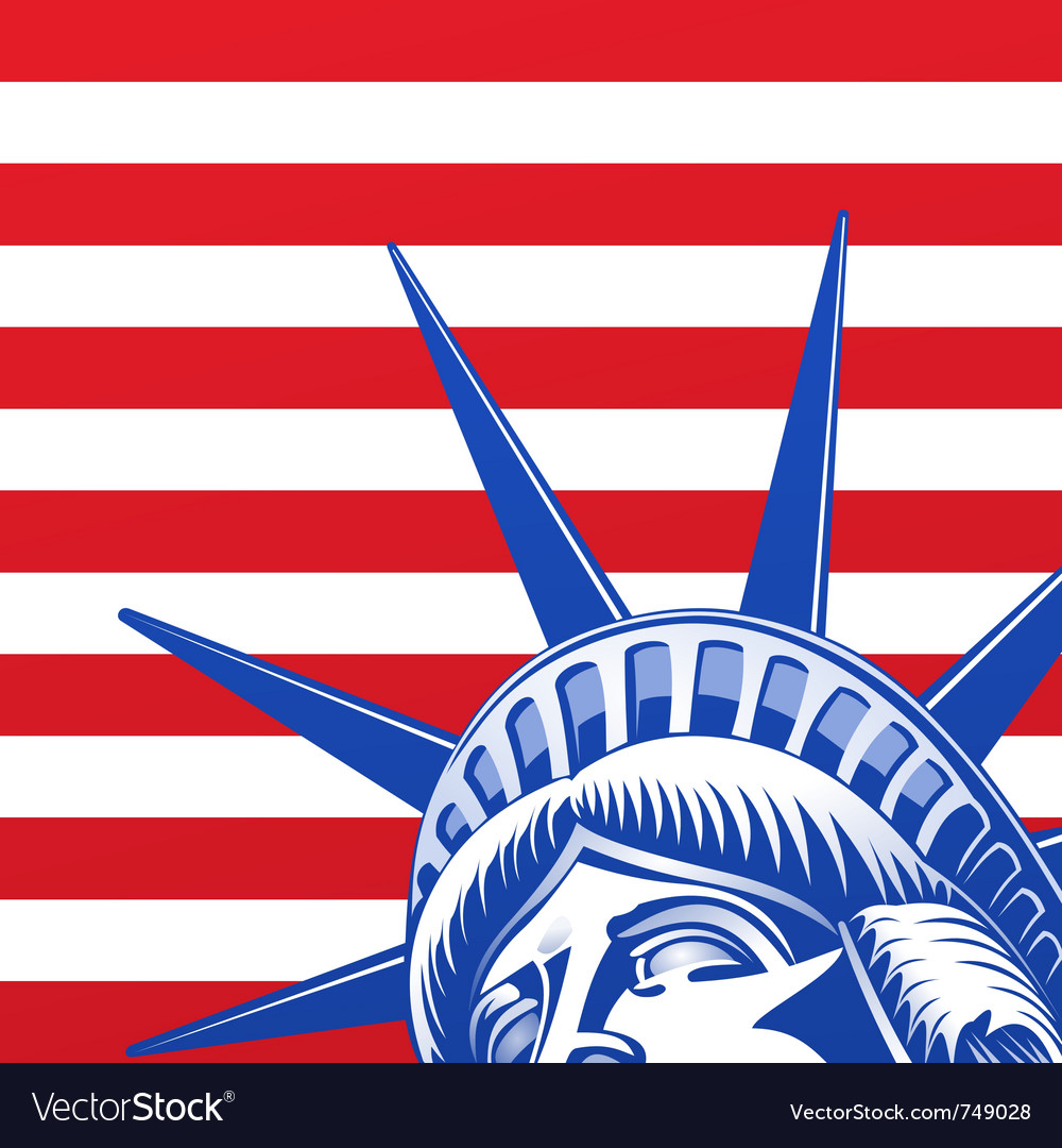 Liberty statue face vector image