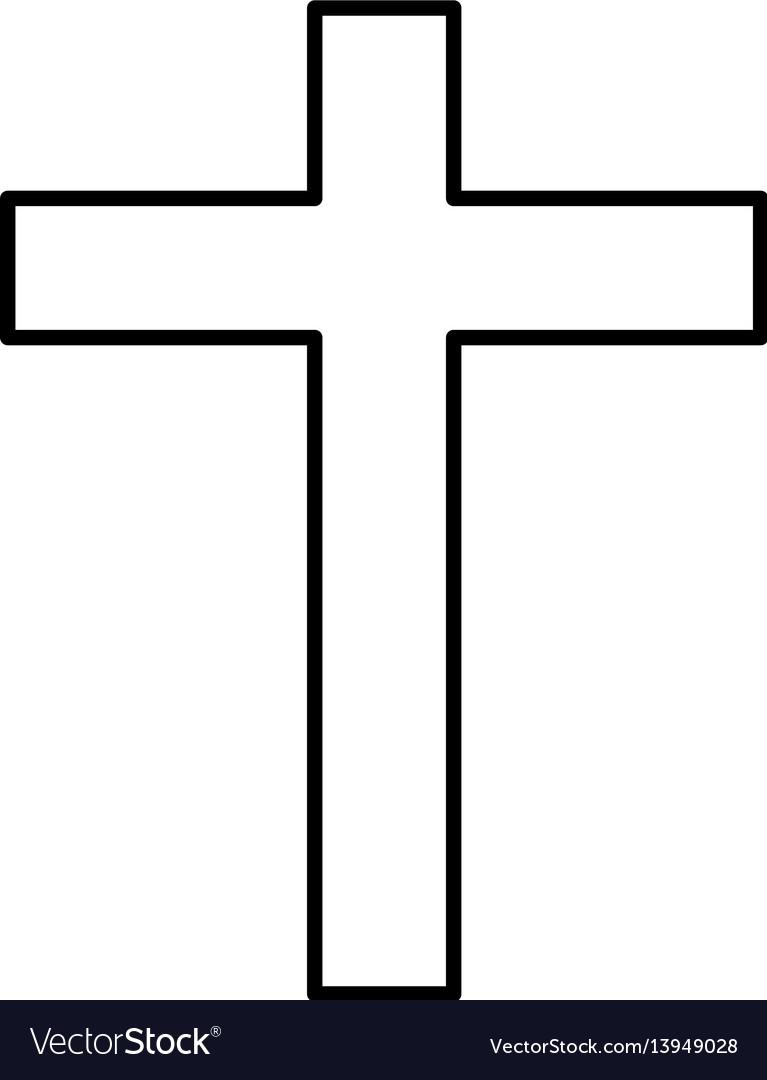 Religious cross isolated icon