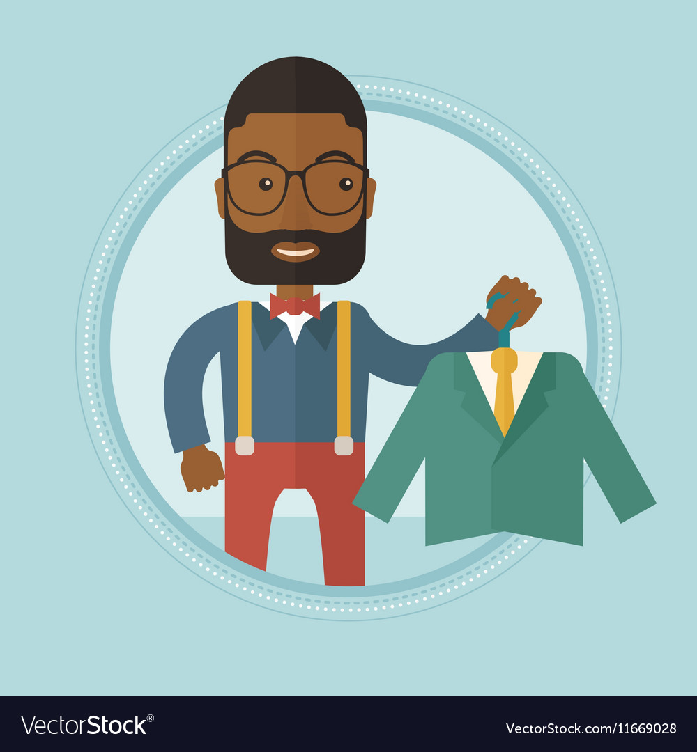 Shopper holding suit jacket vector image