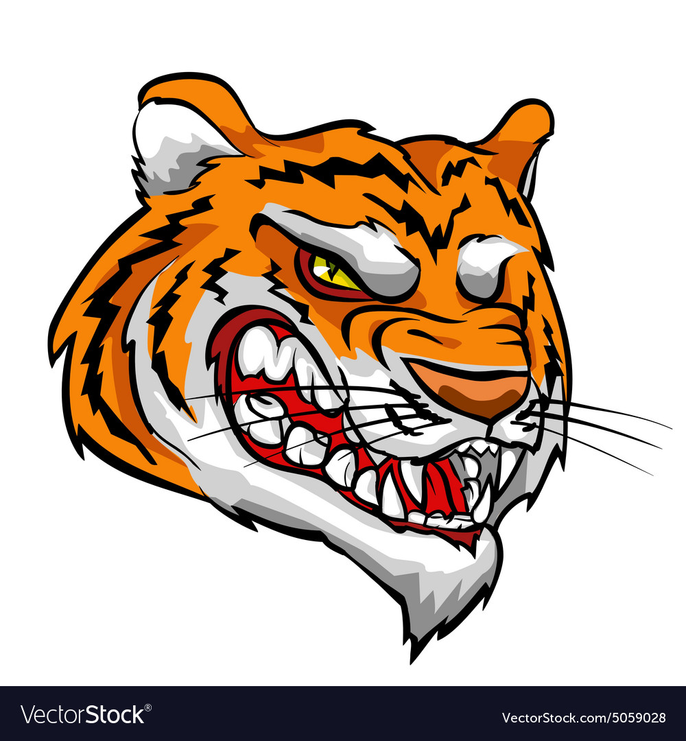 Tiger mascot team label design