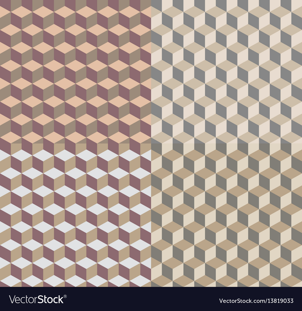 Background with isometric cubes patterns