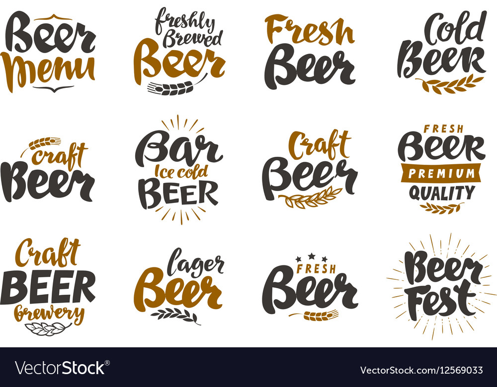 Beer logo labels and icons Collection
