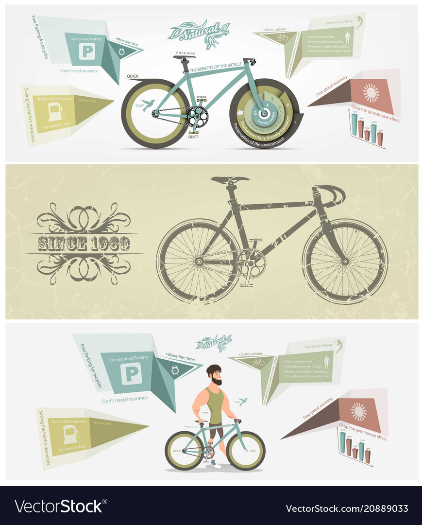 Bicycle banner for facebook poster design