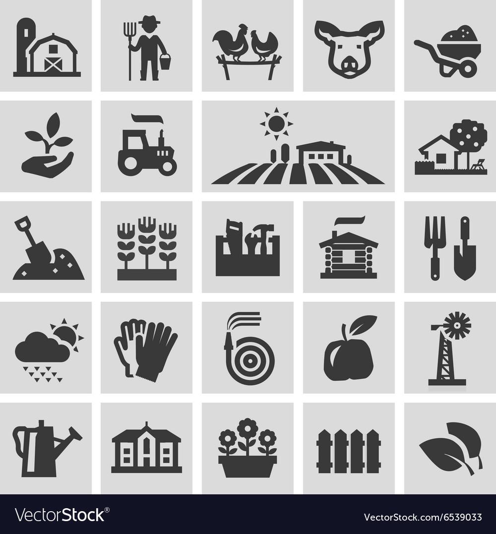 Farm logo design template gardening vector image